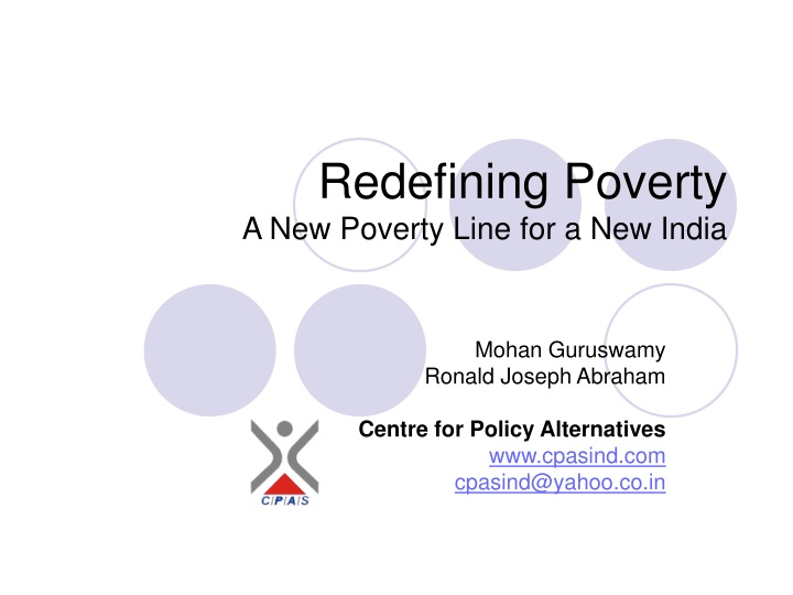 redefining poverty a new poverty line for a new india n.