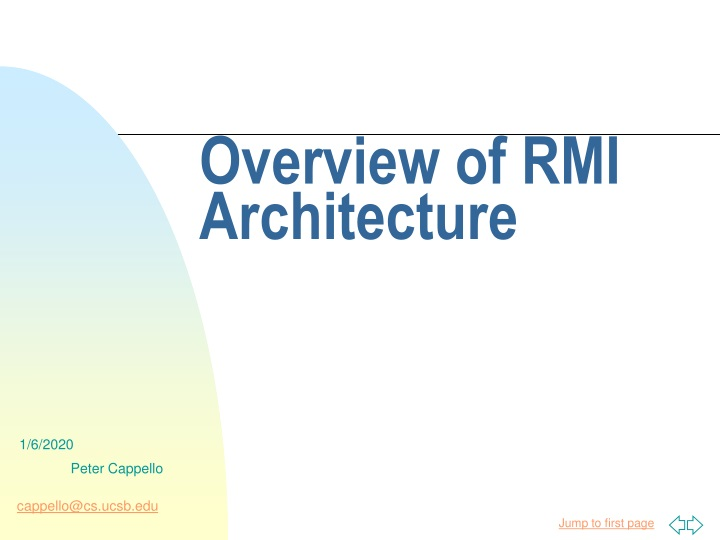 overview of rmi architecture n.