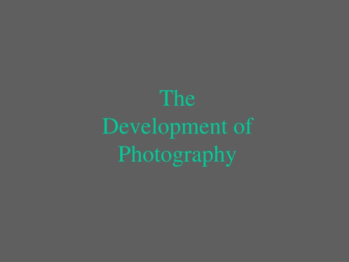 the development of photography n.