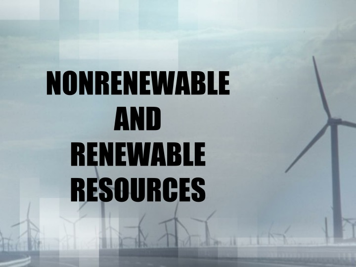 nonrenewable and renewable resources n.