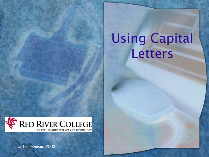using capital letters n.