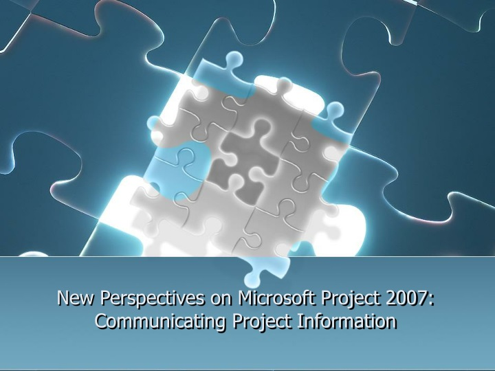 new perspectives on microsoft project 2007 communicating project information n.