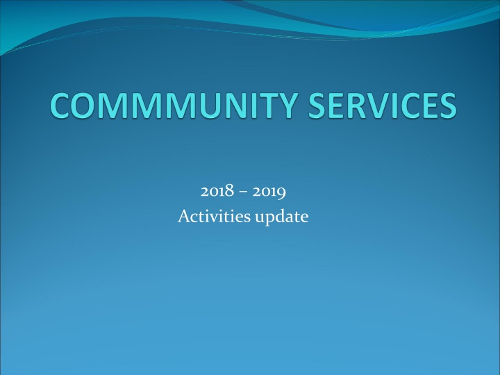 commmunity services n.