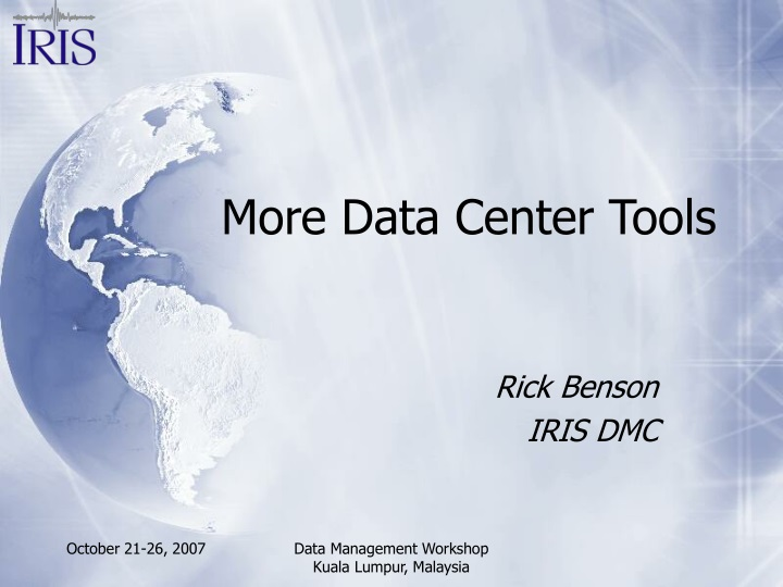 more data center tools n.