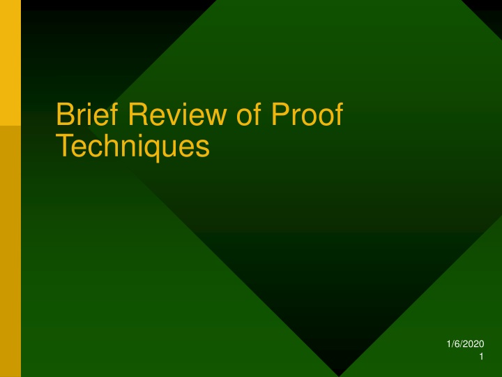 brief review of proof techniques n.