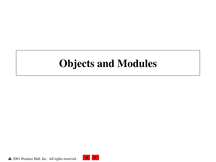 objects and modules n.