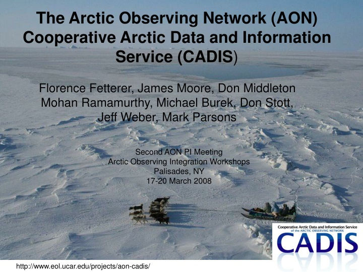 the arctic observing network aon cooperative n.