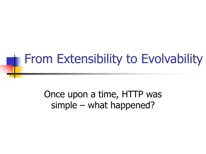 from extensibility to evolvability n.