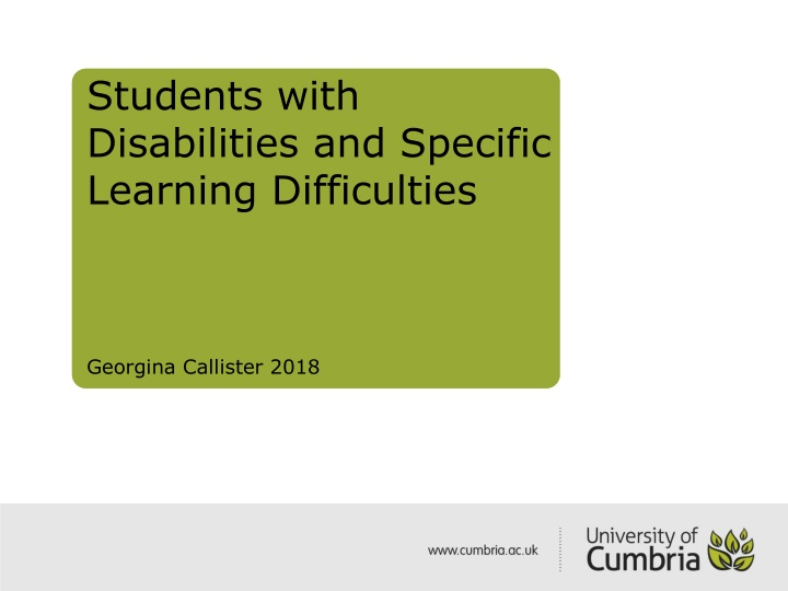 students with disabilities and specific learning difficulties georgina callister 2018 n.