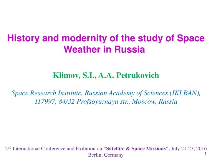 history and modernity of the study of space n.
