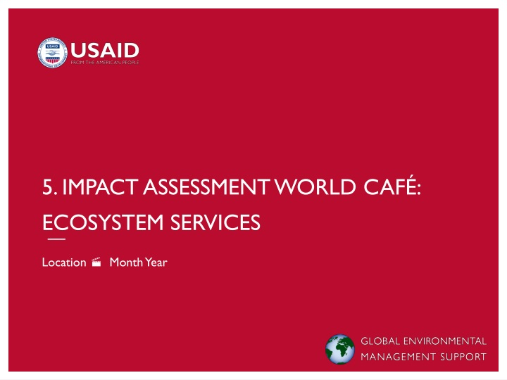 5 impact assessment world caf ecosystem services n.