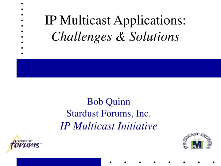 ip multicast applications challenges solutions n.