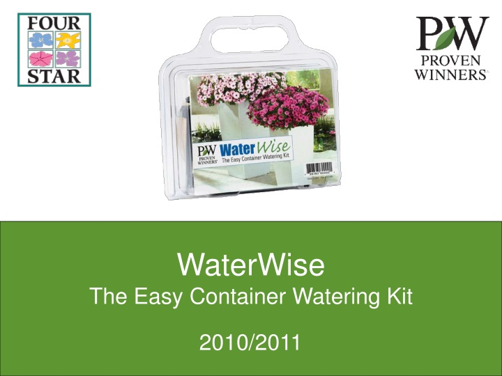 waterwise the easy container watering kit n.