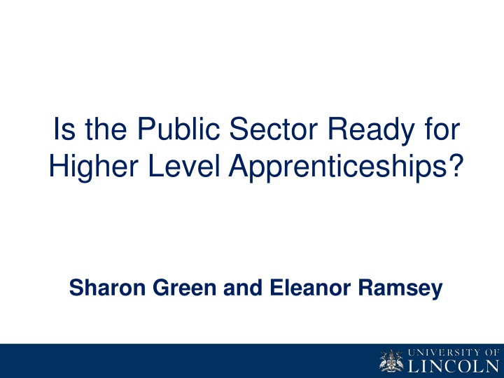 is the public sector ready for higher level n.