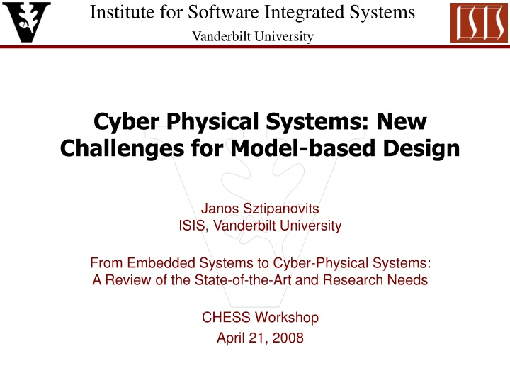 cyber physical systems new challenges for model based design n.