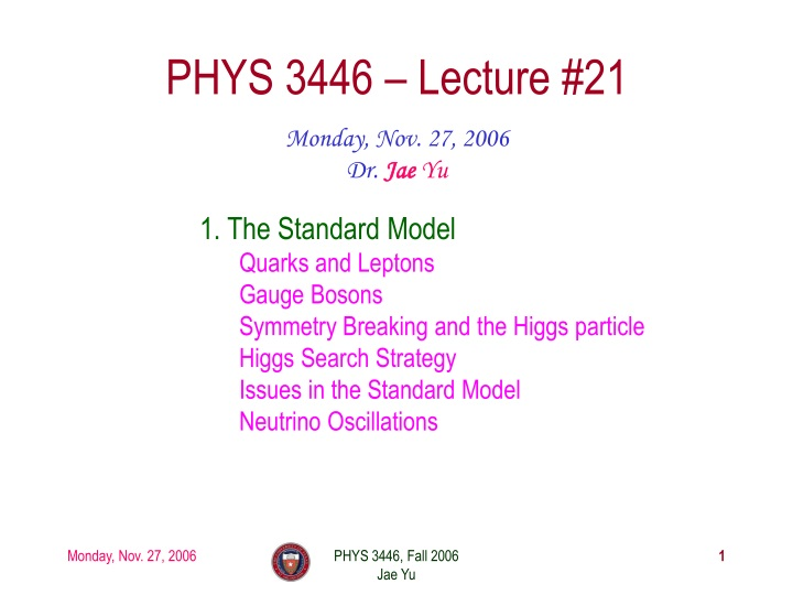 phys 3446 lecture 21 n.