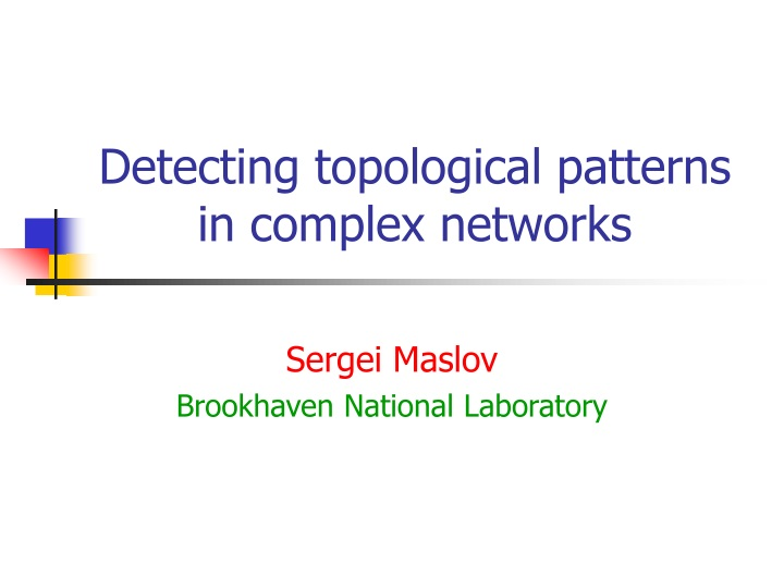 detecting topological patterns in complex networks n.
