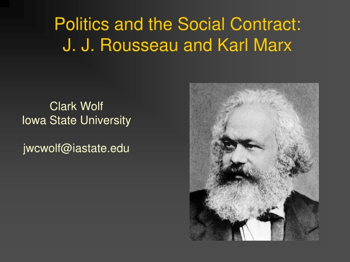 politics and the social contract j j rousseau and karl marx n.