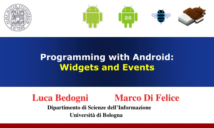 programming with android widgets and events n.