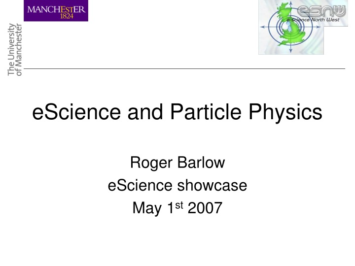 escience and particle physics n.
