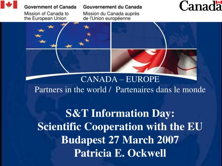 canada europe partners in the world partenaires n.