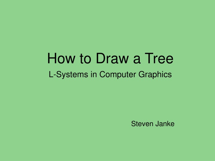 how to draw a tree n.