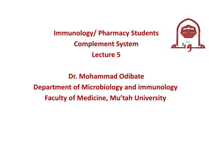immunology pharmacy students complement system n.