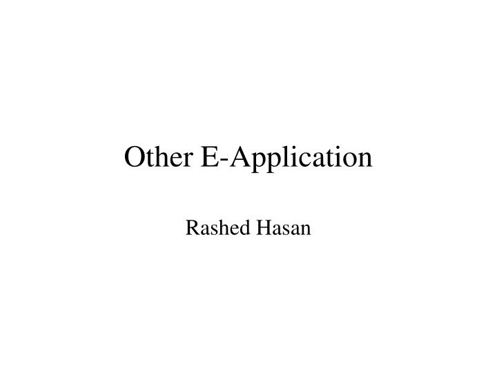 other e application n.