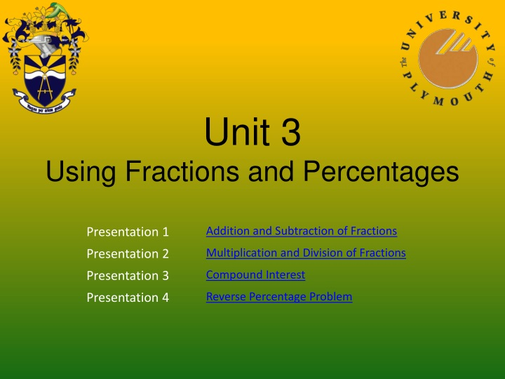 unit 3 using fractions and percentages n.