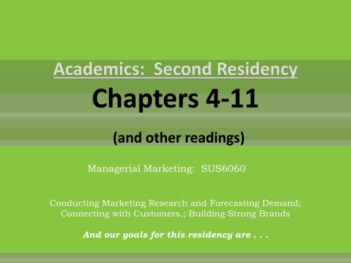academics second residency chapters 4 11 and other readings n.