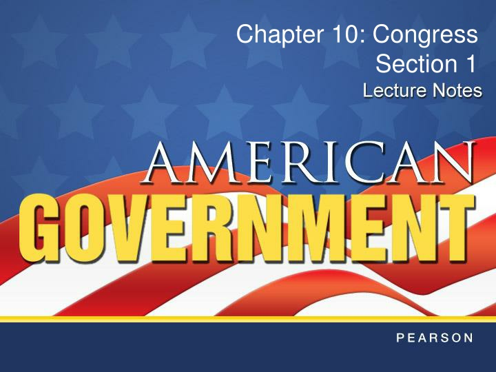 chapter 10 congress section 1 n.