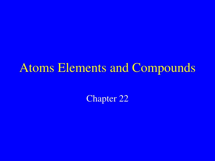 atoms elements and compounds n.