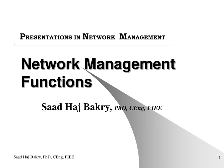 network management functions n.