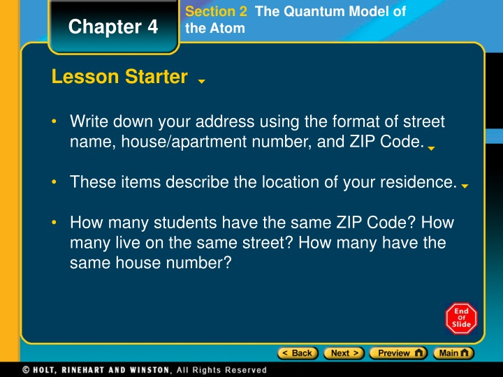 section 2 the quantum model of the atom n.
