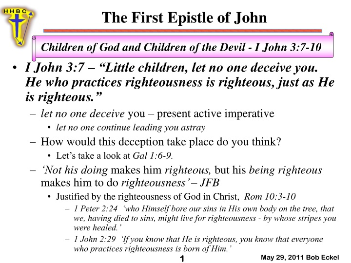 the first epistle of john n.