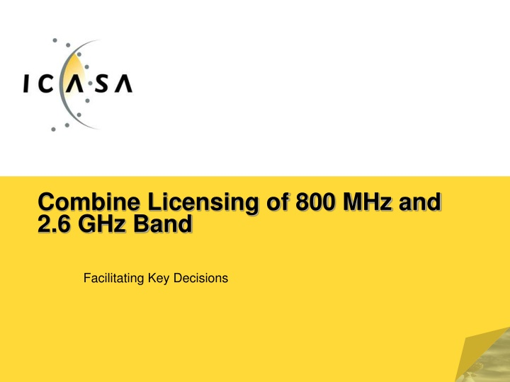combine licensing of 800 mhz and 2 6 ghz band n.