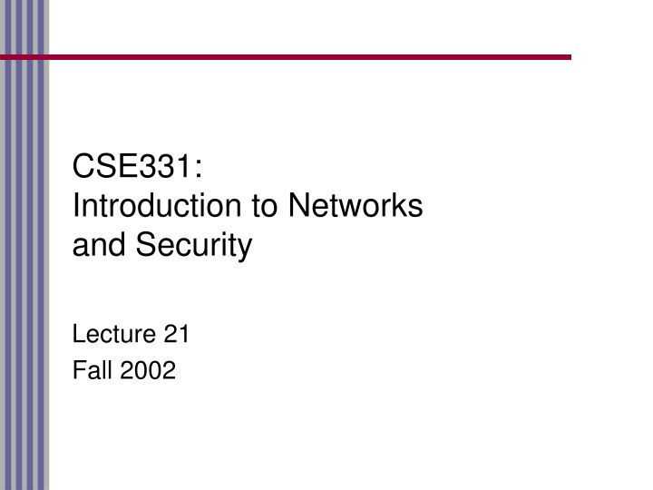 cse331 introduction to networks and security n.
