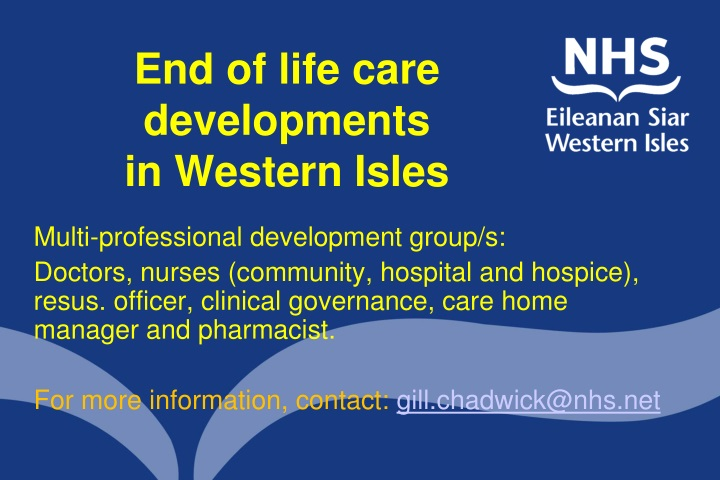 end of life care developments in western isles n.