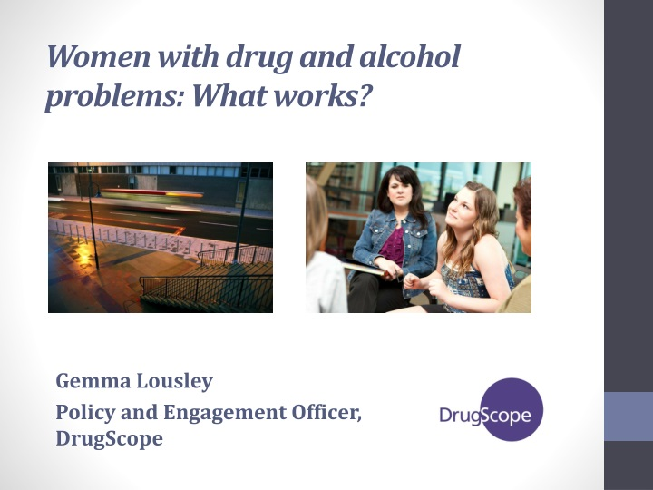 women with drug and alcohol problems what works n.