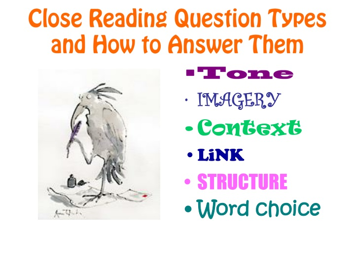 close reading question types and how to answer them n.