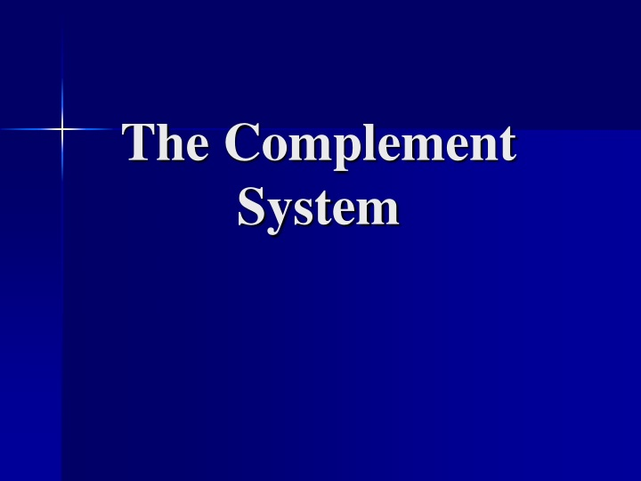 the complement system n.