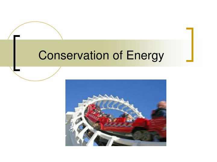 conservation of energy n.