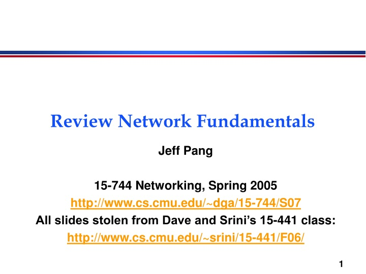 review network fundamentals n.