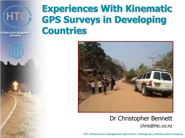 experiences with kinematic gps surveys in developing countries n.