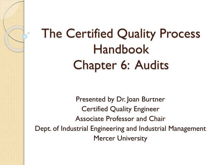 the certified quality process handbook chapter 6 audits n.