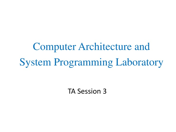 computer architecture and system programming n.