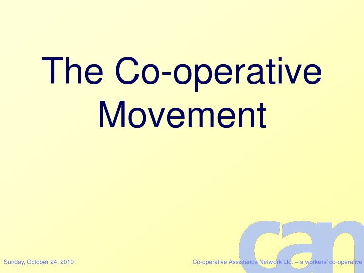 the co operative movement n.