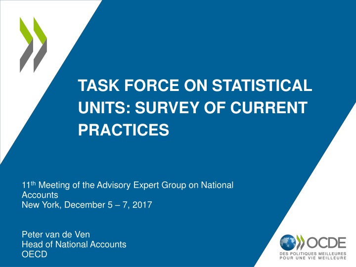 task force on statistical units survey of current practices n.