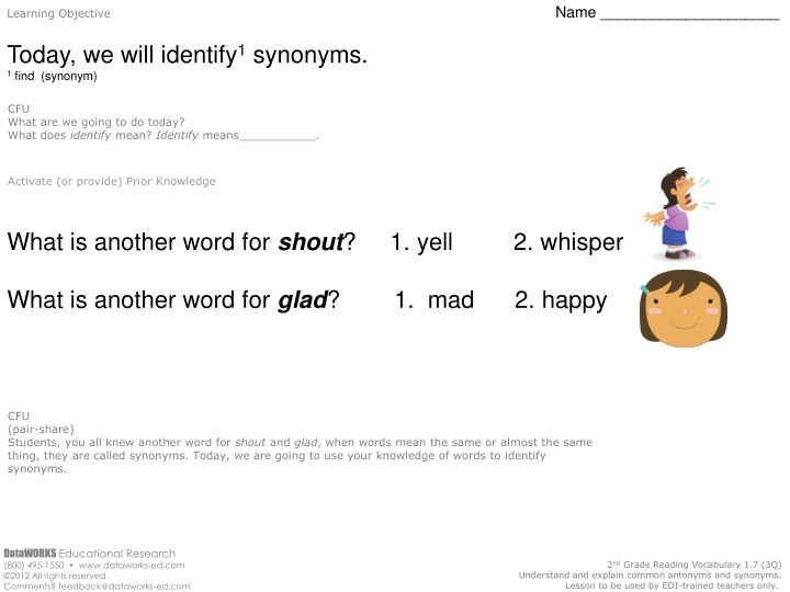 learning objective name today we will identify n.