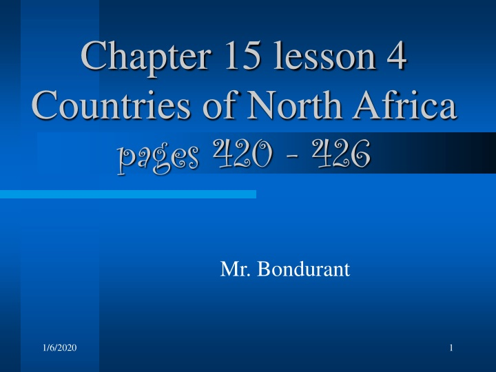 chapter 15 lesson 4 countries of north africa pages 420 426 n.